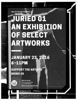 JURIED_01 An Exhibition of Select Artworks